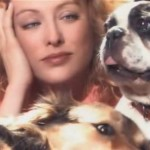 Virginia Madsen And Her Small Dog Pack