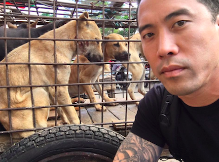 Pet store owner, Marc Ching, aims to end the terrible pet meat trade. Photo courtesy Facebook.com/thepetstaurant/
